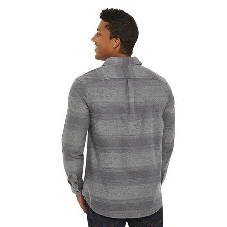 George Men's Herringbone Flannel Shirt - image 3 of 6