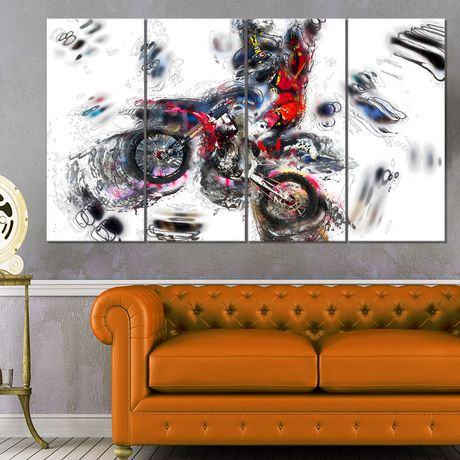 Design Art Moto Cross Sports Canvas Wall Art - image 2 of 3