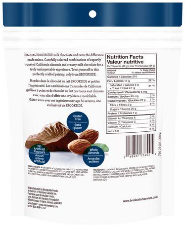 BROOKSIDE Amandes enrobées de chocolat au lait - image 2 de 2