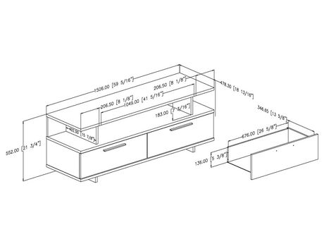 South Shore Reflekt Tv Stand With Drawers For Tvs Up To 60 Inches