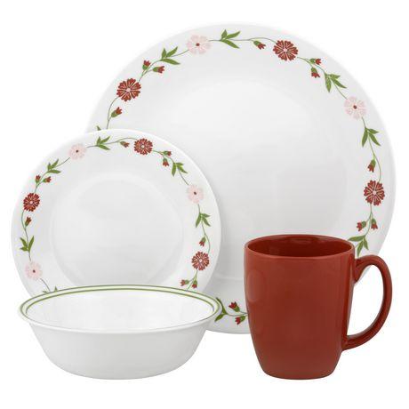 Corelle 174 16 Piece Spring Pink Dinnerware Set Walmart Canada