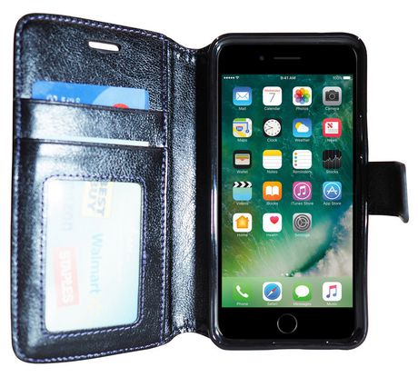 Exian Wallet Case for iPhone 7 Plus in Black Blue - image 2 of 2