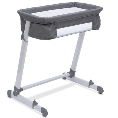 Delta Children By The Bed Deluxe Bassinet, Grey Tweed - image 4 of 8