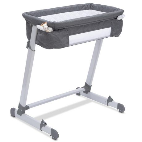 Delta Children By The Bed Deluxe Bassinet, Grey Tweed - image 5 of 8