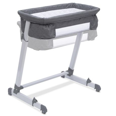 Delta Children By The Bed Deluxe Bassinet, Grey Tweed - image 6 of 8