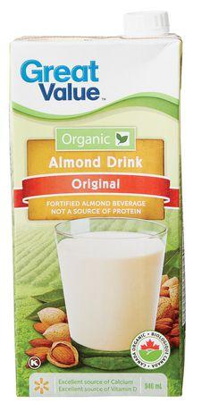 Great Value Organic Original Almond Drink - image 1 of 3