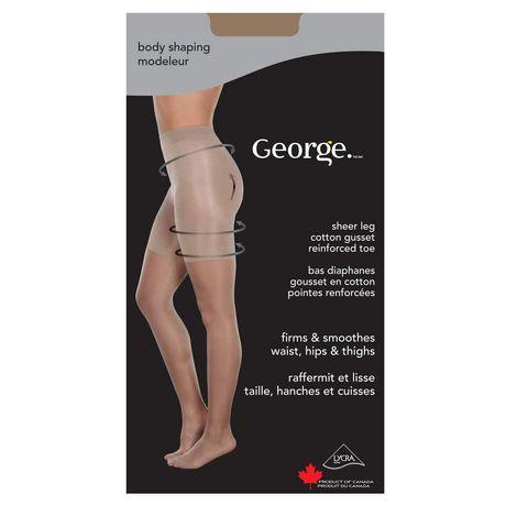 b15af21c290 George Ladies  Body Shaping Sheer Leg Cotton Gusset Reinforced Toe Pantyhose  - image 7 ...
