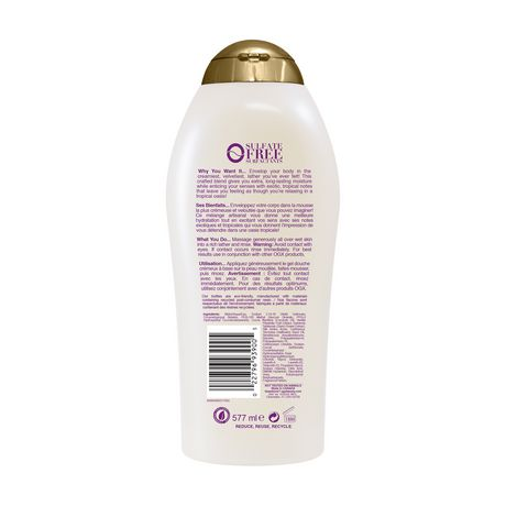 OGX Extra Creamy + Coconut Miracle Oil Ultra Moisture Body Wash - image 2 of 4