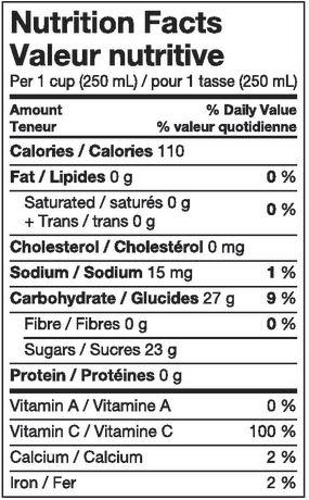 Great Value 100% Low Acid Pure Apple Juice 1.89L - image 3 of 3