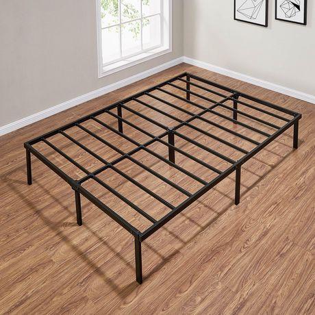 "Mainstays 14"" Heavy Duty Slat Bed Frame, Black Steel - image 3 of 4"