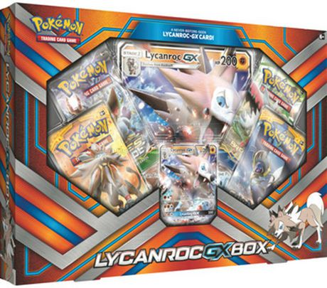 Pokemon Lycanroc Gx Box Trading Cards English Walmart