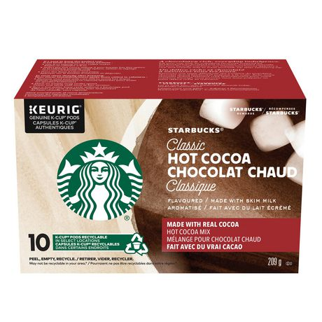 Starbucks Classic Hot Cocoa K Cup Pods 10ct