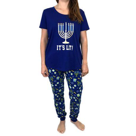 George Ladies  Short-Sleeve Hanukkah Pyjama Sets - image 1 ... dbd59baae