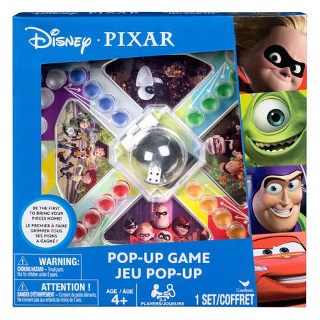 Disney Pixar Pop-Up Game - Cars, Toy Story, Incredibles, Monsters Inc. - image 1 of 1