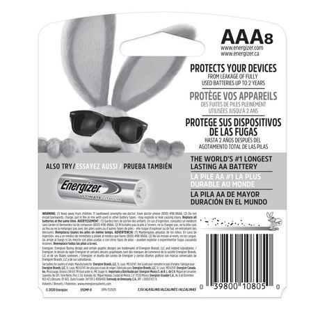Energizer MAX Alkaline AAA Batteries, 8 Pack - image 2 of 9