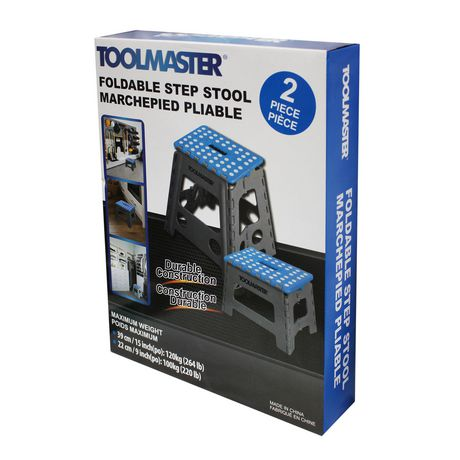 ToolMaster 2pk folding step stool. One large step stool and one small step stool. - image 3 of 3