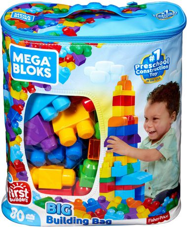 Mega bloks first builders big building bag for Builders first