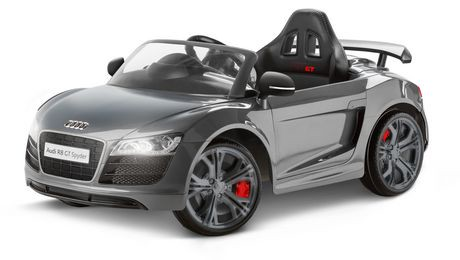 v hicule porteur lectrique audi r8 spyder gt en gris de 6 v de kidtrax walmart canada. Black Bedroom Furniture Sets. Home Design Ideas
