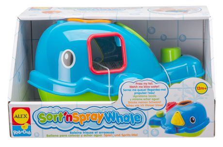 Alex Toys Rub a Dub Sort'n Spray Whale Floating Shape Sorter - image 1 of 1