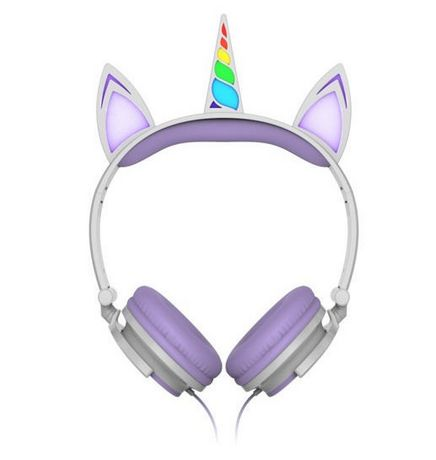 Art+ Sound Unicorn Wired Headphones with LED Lights - image 1 of 3