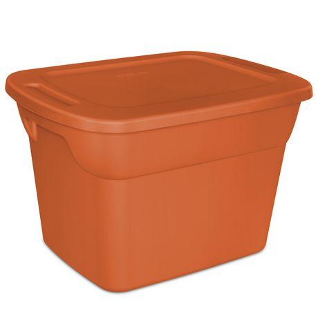 Sterilite Orange Tote Canada, Orange Plastic Storage Totes