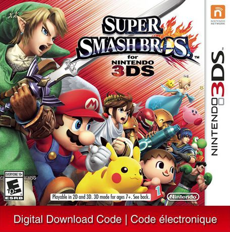 Super Smash Bros  - Nintendo 3DS [Digital Code]