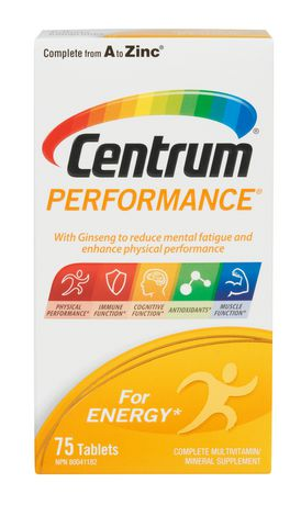 Centrum Performance 75 Count Ginseng For Energy