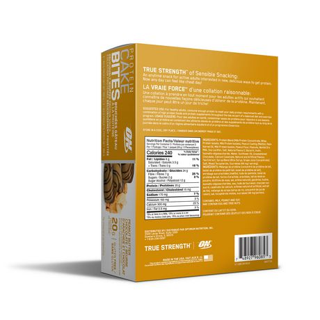 Optimum Nutrition Peanut Butter Chocolate Protein Cake Bites 3 Pack - image 2 of 3