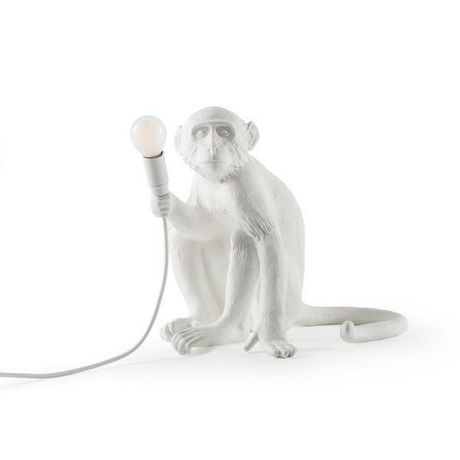 Monkey Table Lamp 1 in White - image 1 of 1
