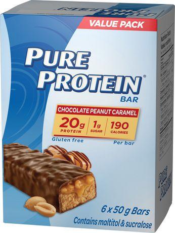 Pure Protein Chocolate Peanut Caramel Bars - image 1 of 3