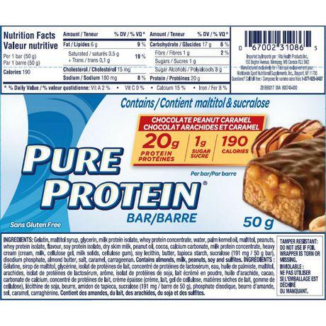 Pure Protein Chocolate Peanut Caramel Bars - image 3 of 3