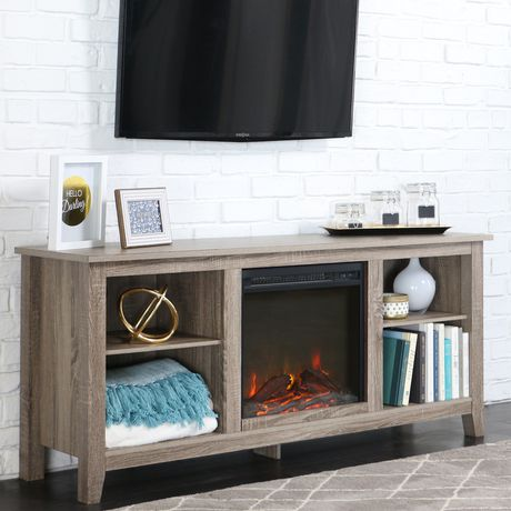 """Manor Park Minimal Farmhouse Fireplace TV Stand for TV's up to 64""""- Multiple Finishes - image 4 of 5"""