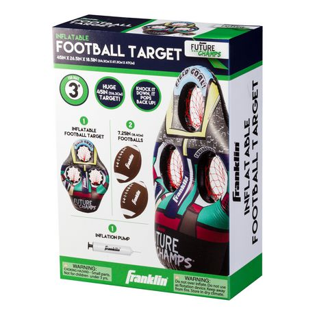 Franklin Sports Kids Football Target Toss Game with 3 Target Holes 2 7.25 Footballs Included with Pump 45 Tall