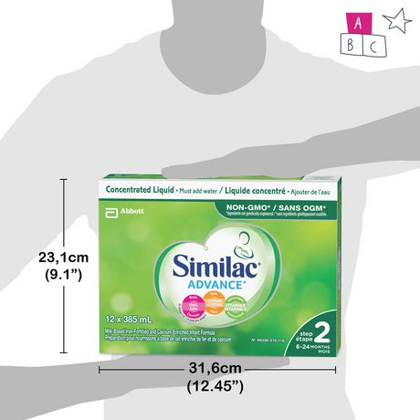 Similac® Advance® Step 2 Concentrated Liquid Baby Formula, 12 x 385 mL - image 8 of 9