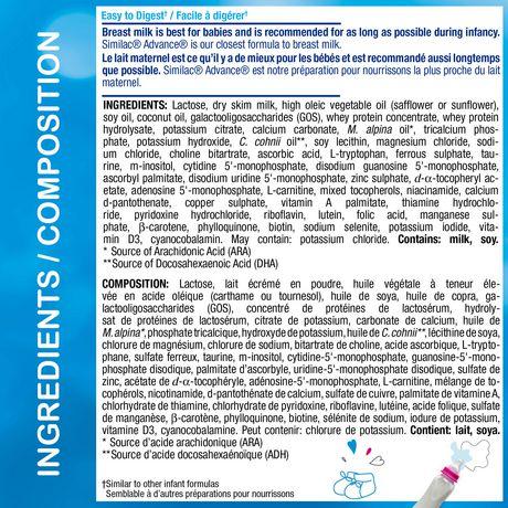Similac Advance Step 1 Baby Formula Powder + DHA, Lutein & Vtmn E, 658 g - image 6 of 9