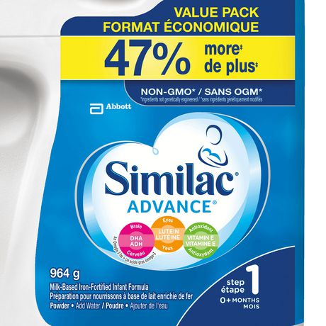 Similac Advance Step 1 Baby Formula Powder + DHA, Lutein & Vtmn E, 964 g - image 2 of 9