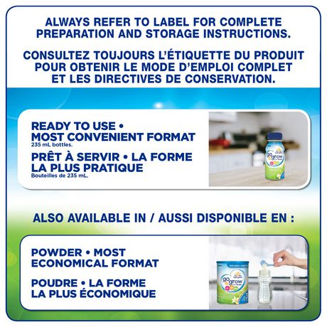 Go & Grow by Similac Step 3 Ready-To-Use Toddler Formula, 6 x 235 mL, Vanilla Flavour - image 7 of 7