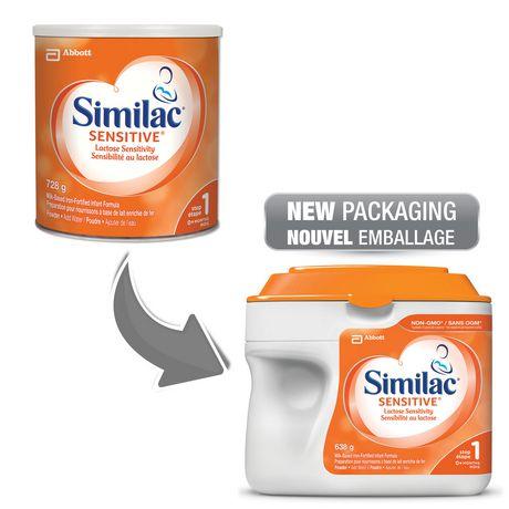 Similac Sensitive Lactose Sensitivity Non-GMO Baby Formula Powder, 638 g - image 4 of 9