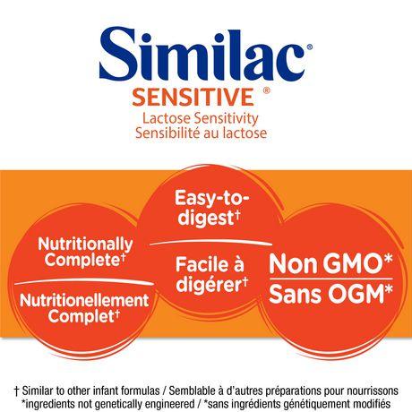 Similac Sensitive Lactose Sensitivity Non-GMO Baby Formula Powder, 638 g - image 3 of 9