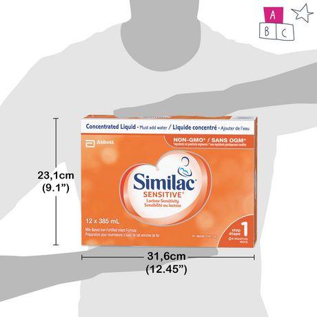 Similac Sensitive Lactose Sensitivity Liquid Baby Formula, 12 x 385 mL - image 8 of 9