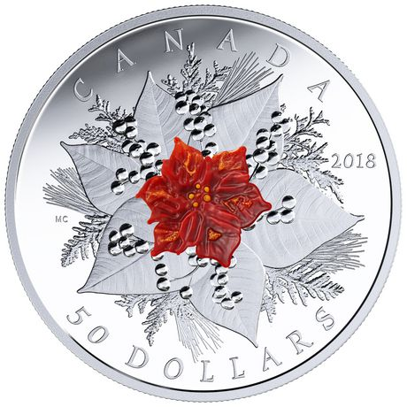 Royal Canadian Mint 2018 Holiday Splendour 50 Dollars Fine Silver ...