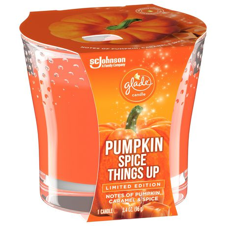 Glade Scented Candle Air Freshener, Pumpkin Spice Things Up - image 3 of 5