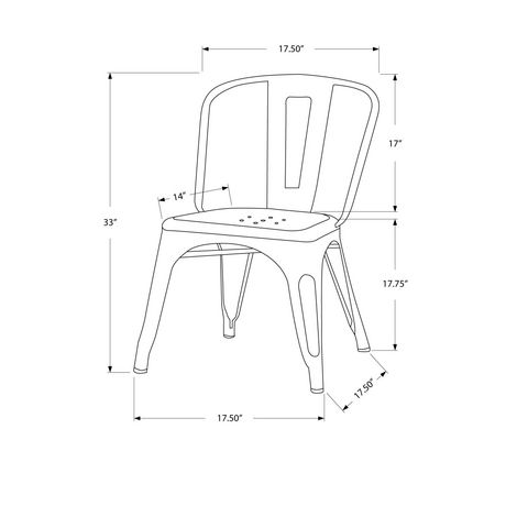 monarch white glossy metal cafe chairs walmart canada