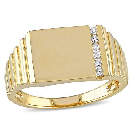 Bague en or avec diamant pour homme
