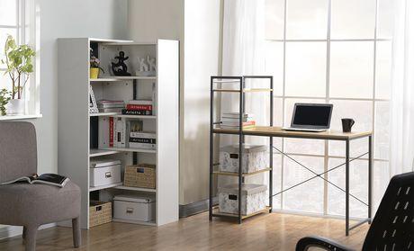 Bureau avec une bibliothèque intégrée de 4 tablettes de Homestar en bois  naturel