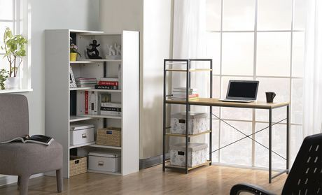 Bureau avec une bibliothèque intégrée de 4 tablettes de Homestar en ...