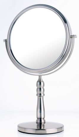 Miroir de coiffeuse classique grossissant en nickel satin for Miroir walmart