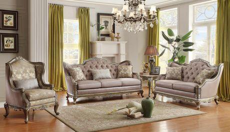 Topline Home Furnishings Old World Gold Sofa - image 2 of 2