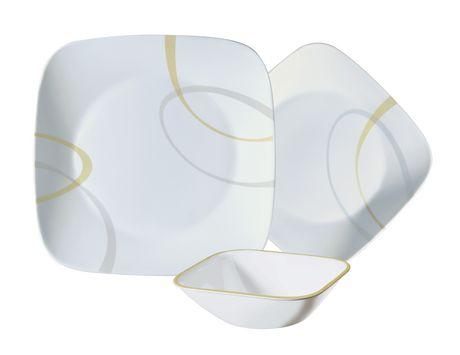 Corelle 174 Studio Modern Lines 12 Piece Dinnerware Set