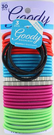 Goody Ouchless 4mm Elastics Bright Attitude Ponytails  4d2d868afb3